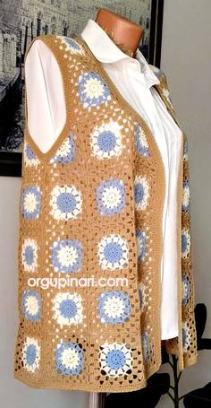 Baby Knitting Patterns, Crochet Patterns, Crochet Clothes, Crochet Hats, Vest Pattern, Knit Vest, Crochet Fashion, Handmade, Tanks