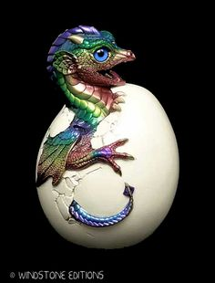 Hatching Dragon sculpture by *Reptangle on deviantART
