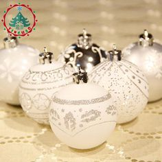 Inhoo Multicolor Theme Pack Ornaments For Tree Decor Ball Christmas Bauble Hanging Xmas Ornament Home