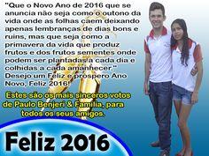 Blog Paulo Benjeri Notícias: Mensagem de Ano Novo para todos os meus amigos e l...