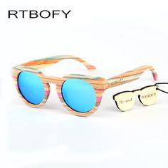 ed6d0adea3f RTBOFY Handmade Woodie Sunglasses - Polarized