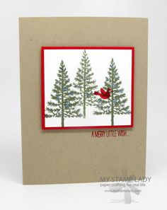 Festival of Trees Handmade Christmas Card. A simple card made with Stampin' Up!'s new stamp set. www.mystamplady.com