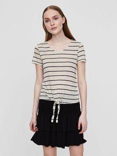 Linen short sleeved top | BESTSELLER.com
