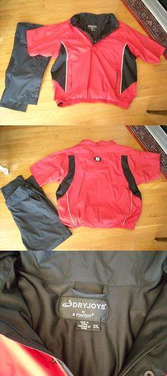 Coats and Jackets 181134: Fj Footjoy Men S Rain Suit Red Black Premium Jacket Pants -> BUY IT NOW ONLY: $124.95 on eBay!