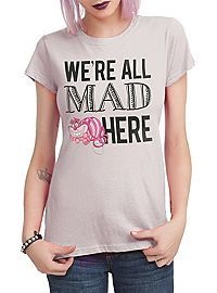 HOTTOPIC.COM - Disney Alice In Wonderland We're All Mad Girls T-Shirt