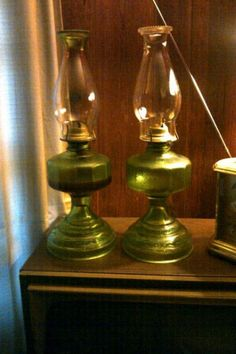 Oil Lamps...Reminds me of my Grandma. I have one of these from each of my Grandmas.
