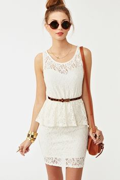 Love the lace and the bottom of this dress