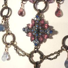 Purple Medieval Necklace