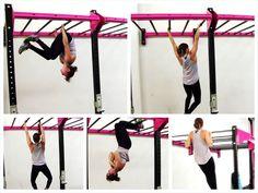 monkey bar exercises. upper body and ab exercises using the monkey bars