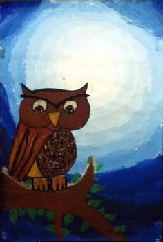 Tints and shades owl.  4th grade art. (picture not lesson)