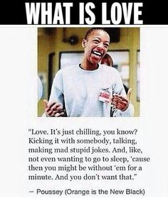 What is love according to Poussey #OITNB