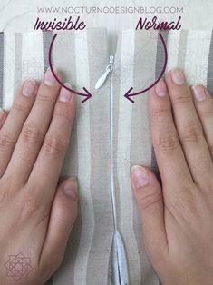 2 formas de coser una cremallera invisible – Nocturno Design Blog Sewing Hacks, Sewing Tutorials, Sewing Projects, Sewing Patterns, Sewing Clothes, Diy Clothes, Zipper Tutorial, Cute Kids Pics, Denim Ideas