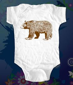 bear 2 - graphic printed on Infant Baby Onesie, Infant Tee, Toddler T-Shirts - Many sizes