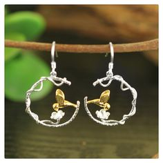 Find More Drop Earrings Information about Top Quality Unique Creative Handmade Jewelry Perfect Lovely Bird Dangle Earrings Real 925 Sterling Silver Accessories joyas,High Quality dangle earrings,China 925 sterling Suppliers, Cheap earrings dangle from Lotus-Silver Jewelry Handmade Studio on Aliexpress.com