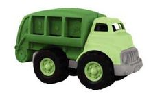 The Green Toys - Recycling Truck sorts cans, bottles and paper. The environmentally friendly design has no metal axles. Made from recycled milk cartons.