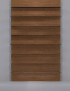 Boiserie Decor. Wood veneered board with horizontal DECOR carving on the sight side - By Bartoli Design | Laurameroni