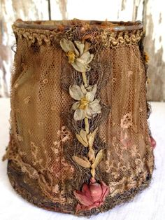 antique early 1900s French silk petite lamp shades from histoire ancienne.        www.etsy.com/shop/histoireancienne