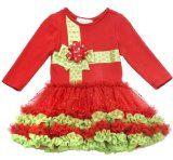 Girls Rare Editions Ribbon Present Tutu Holiday Dress 2T (H757512) $32.99