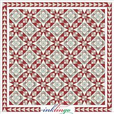 "Inklingo ""Celtic Solstice"" Mystery Quilt. Series of 6 clues and suplements developed by Bonnie Hunter. Tennessee Waltz with its traditional 54-40 block."