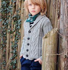Кардиган с «косами» для мальчика - схема вязания спицами. Вяжем Кардиганы на…