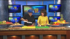 """Erik Berlin """"Chef Egg"""" shows Deborah how to use knives in the kitchen. Egg Recipes, Healthy Recipes, Recipe Boards, Knives, Berlin, Cooking, Kitchen, Kitchens, Healthy Eating Recipes"""