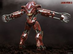 His work includes concept designs for various Iron Man suits including the Gemini, Heart Breaker, Bullet and Red Snapper.