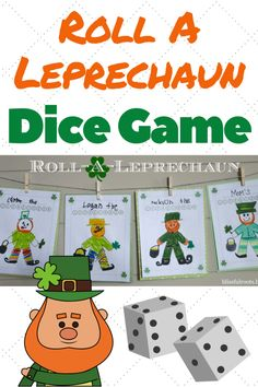 Roll-A-Leprechaun Game ~ Fun St. St Patrick Day Activities, Fun Activities For Kids, Games For Kids, Elderly Activities, Dementia Activities, Holiday Activities, Craft Activities, Fun Games, Leprechaun Games