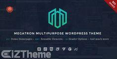 Megatron v1.2 – Giao diện WordPress cực đẹp cho doanh nghiệp