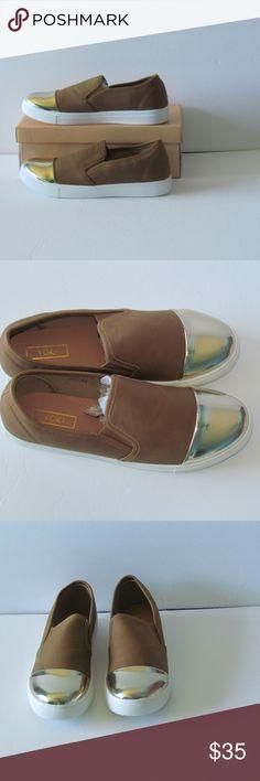 60707f6baf3 YOKI Vegan Leather Sneaker With Metallic Toe