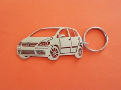 VW Golf  Keychain Stainless Steel Custom Key by GuestFromThePast