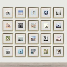 Photo Frame Sets For Wall Collage Photo Frames Light Brown Wood Gallery Wall Frames, Frames On Wall, Wall Collage, Collage Photo, Wood Frames, Gallery Walls, Travel Gallery Wall, Picture Wall, Ideas