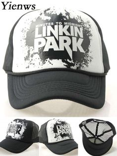d60b93c90ec60 Yienws Linkin Park Baseball Hat For Women Mesh Trucker Hats For Men Bone  Masculino Full Cap YH223 -in Baseball Caps from Men's Clothing &  Accessories on ...