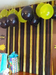 Batman Birthday Party - Batman Party - Ideas of Batman Party - batman-backdrop Batman Party Foods, Batman Party Games, Batman Party Decorations, Batman Party Supplies, Lego Batman Birthday, Superhero Birthday Party, 6th Birthday Parties, Ninja Party, Batman Batman
