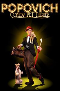 Popovich Comedy Pet Theater - Sunday, April 28, 2013 at 1:30 PM & 4:30 PM. Tickets from $19 - What has cats, dogs, geese, doves, parrots, and a few clowns to boot? Russian circus and juggling star Gregory Popovich and his very talented cast of four-legged and fine-feathered friends stage hilarious stunts and skits in this delightful treat for animal lovers young and old!
