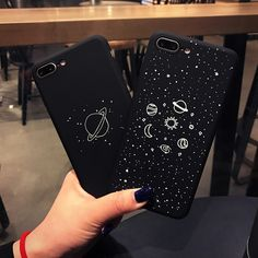Phone Bags & Cases Kasonpai Universe Serise Stars Phone Case For Iphone 6 6s 7 8 Plus X Cool Space Planet Moon Sun Scenery Hard Cute Back Cover Buy One Get One Free Half-wrapped Case