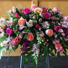 sympathy flowers by brookside blooms, an exceptional Tulsa florist delivering unique fresh flowers for all occasions and events Casket Flowers, Grave Flowers, Altar Flowers, Cemetery Flowers, Church Flowers, Funeral Flowers, Wedding Flowers, Funeral Floral Arrangements, Pink Flower Arrangements
