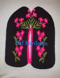 Tunisian Crochet, Slipper Socks, Crochet Slippers, Baby Knitting Patterns, Mittens, Diy And Crafts, Beanie, Crochet Flowers, Tricot