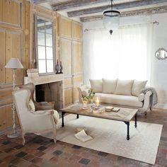 3 seater cotton sofa bench | Maisons du Monde