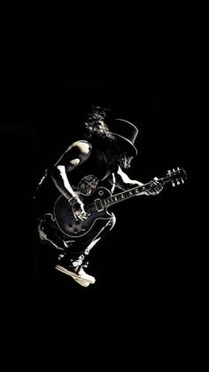 I Love This Photos, When Guitarists Jumping From Heights And Still Playing :) And When It's Slash's Photo, Than It's Awesome :D