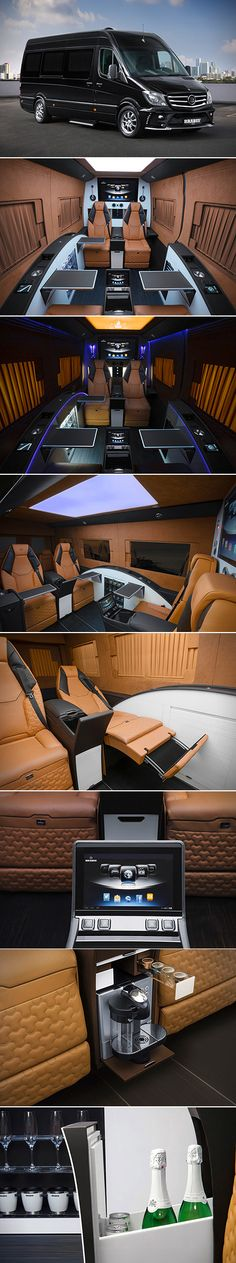 This is Not the Interior of a Spaceship, Just the Mercedes-Benz Brabus Sprinter X thrilling & nice