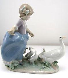 "Lladro Figurine 5503 ""Girl with Ducks"" Porcelain Excellent Condition SM IX | eBay"