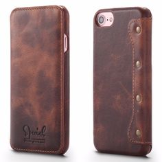 63fa4b1bd88 Simple Fashion Genuine Leather Case For iPhone 7/ Plus Luxury Natural  Leather Flip Cover Mobile