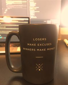Up since 5:30 because there's never been a truer quote than what's on my coffee cup rn. Meeting at 8 then grinding out some work-work and some personal-work then Equinox for a solid workout a run and then the sauna/steam room/hot tub (in that order)