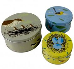 Set of 3 Birdy Cake Tins by Magpie