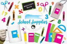 School Supplies graphics and illustrations By Prettygrafik Design