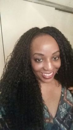 Crochet braids,, Long Crochet braids Using Freetress Brazilian, Styled ...