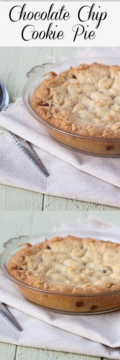 Chocolate Chip Cookie Pie for two. Mini dessert!