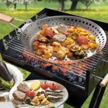 Sartén de barbacoa - Cocina a la parrilla tus verduras salteadas
