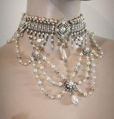 Vintage de novia Collar gargantilla victoriana por mylittlebride