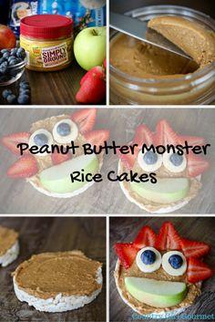 Peanut Butter Monster Rice Cakes